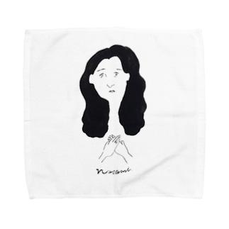 美女 Towel handkerchiefs