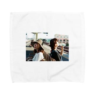 館山の駅のホーム Towel handkerchiefs
