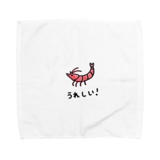 うれしい! エビ Towel handkerchiefs