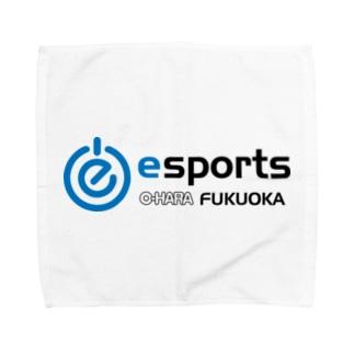 eスポーツ大原福岡 横ロゴ Towel handkerchiefs
