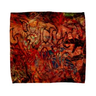 燃ゆる手 Towel handkerchiefs