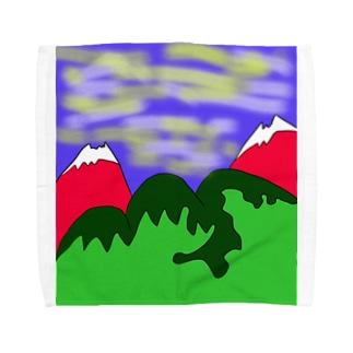 JUJNSEN SETA(瀬田 純仙)令和の夏山1 Towel handkerchiefs
