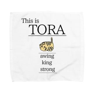 これは虎です Towel handkerchiefs