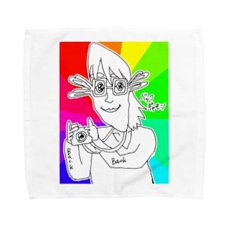 抱っこなどのふれあいのレインボーバックギャモン Towel handkerchiefs
