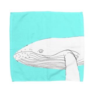 くじらのくー Towel handkerchiefs