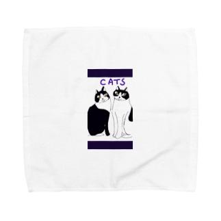 猫ちゃんたち Towel handkerchiefs