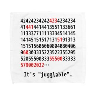 """It's """"jugglable""""白 Towel handkerchiefs"""