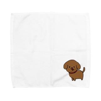 ちゃいろいぬ Towel handkerchiefs