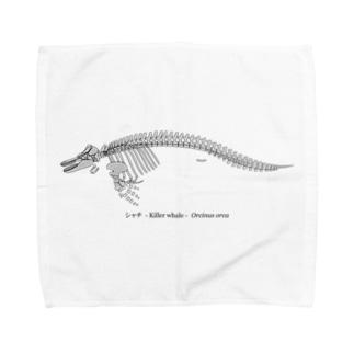 シャチ骨格(淡色下地用) Towel handkerchiefs