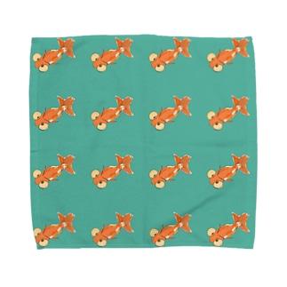 水泡眼ならべ Towel handkerchiefs