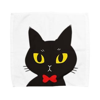 黒猫カゲチョ Towel handkerchiefs