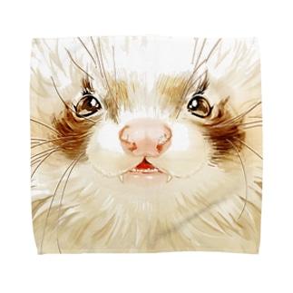 チャリティグッズ*ヘビメタアンゴラちゃん♪ Towel handkerchiefs
