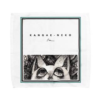考え猫 Towel handkerchiefs