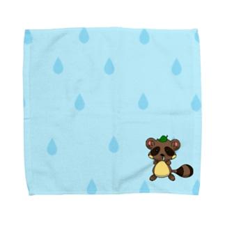 るるたぬき Towel handkerchiefs
