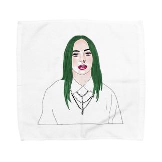 Green Hair Girl Towel handkerchiefs