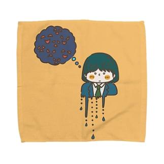 中根すあまのもやもやしてる女の子 Towel handkerchiefs