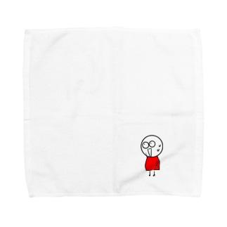 チビィズ(赤) Towel handkerchiefs