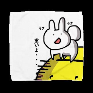 ぽんこつ商店のお月見うさちゃん Towel handkerchiefs
