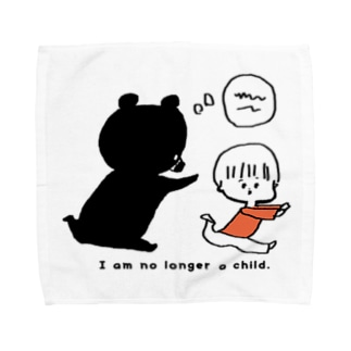 くまとおとこのこ Towel handkerchiefs