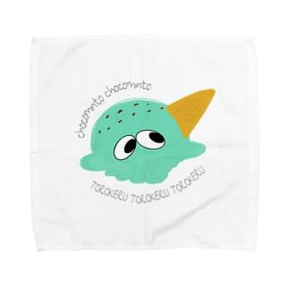 チョコミント Towel handkerchiefs