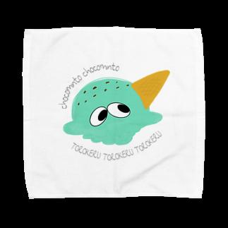 TAKOtororoOBAKEのチョコミント Towel handkerchiefs