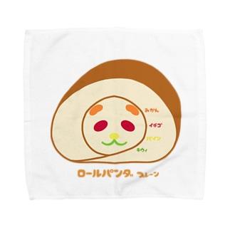 mojimojiのロールケーキ パンダ プレーン Towel handkerchiefs