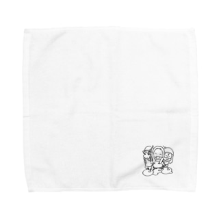 しろくろ Towel handkerchiefs