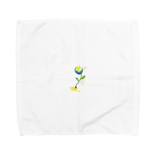 ほしのしほ家のearth flower Towel handkerchiefs