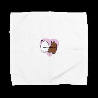 ぷぐのシェリーとピノのケツ ピンクver. Towel handkerchiefs