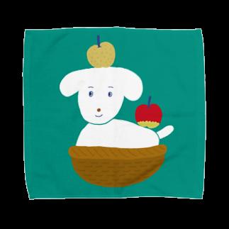 つこのおみせのりんごとなし(GR) Towel handkerchiefs