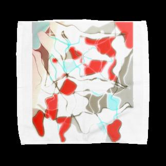 水草の金魚2 Towel handkerchiefs