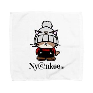 Ny@nkeeのニット帽のあいつ (Ny@nkee) Towel handkerchiefs
