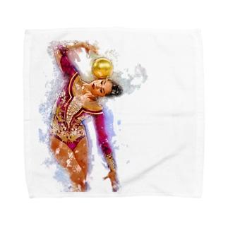 新体操ガール パープル アクセサリー Towel handkerchiefs