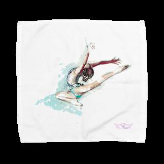 lilli-starlingの新体操ガール ジャンプ アクセサリー Towel handkerchiefs