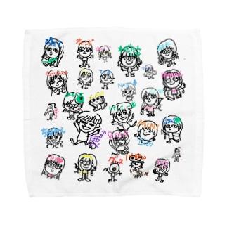 鹿専用モブ子オールスターズ Towel handkerchiefs
