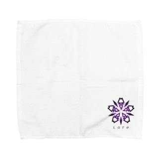 LoreのLore(PURPLE) Towel handkerchiefs