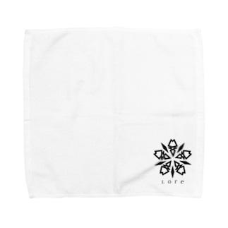 Lore(BLACK) Towel handkerchiefs