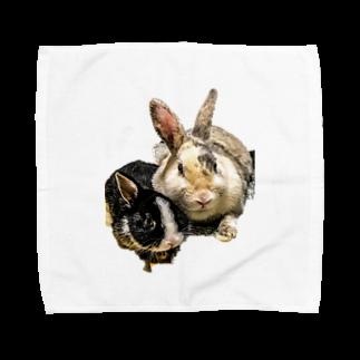 団長のベスと爽くん Towel handkerchiefs