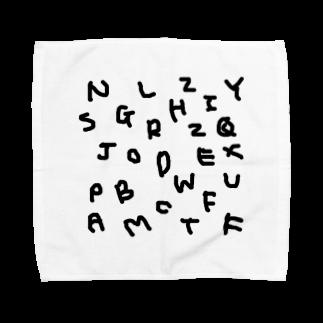 kyoconutの私文字(殴り書きver.) Towel handkerchiefs