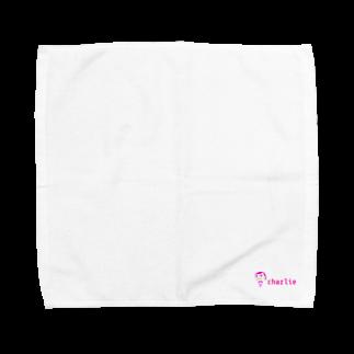 charlolのロゴcharlie Towel handkerchiefs