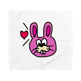 キモうさぎ Towel handkerchiefs