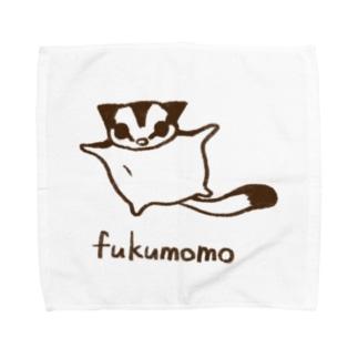 ふくももジャンプ(モノクロ) Towel handkerchiefs