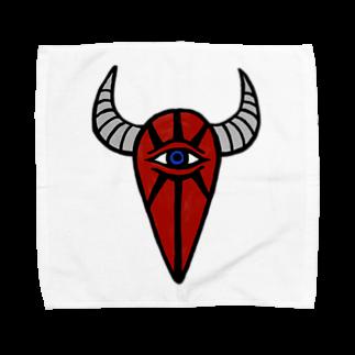 カイカイの出店の赤い坊や Towel handkerchiefs