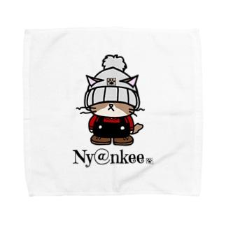 ニット帽なあいつ   (Ny@nkee) Towel handkerchiefs