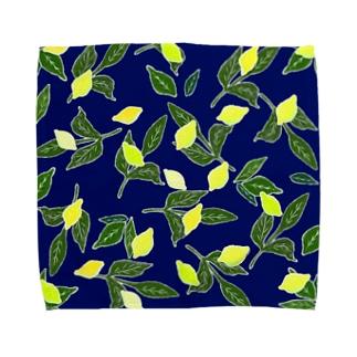 青と檸檬 Towel handkerchiefs