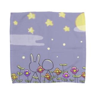 お月見 Towel handkerchiefs