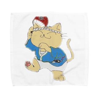 踊り猫 Towel handkerchiefs