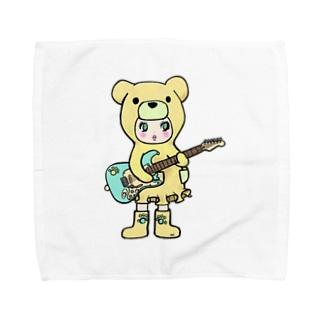 Suzuki Satomi イラストショップのベアミちゃん Towel handkerchiefs