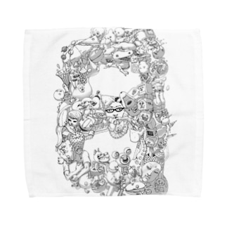 毎日が記念日モノクロVer. Towel handkerchiefs