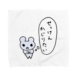 ねこりんストア Nekorin Storeのせっけんかじりたい Towel handkerchiefs